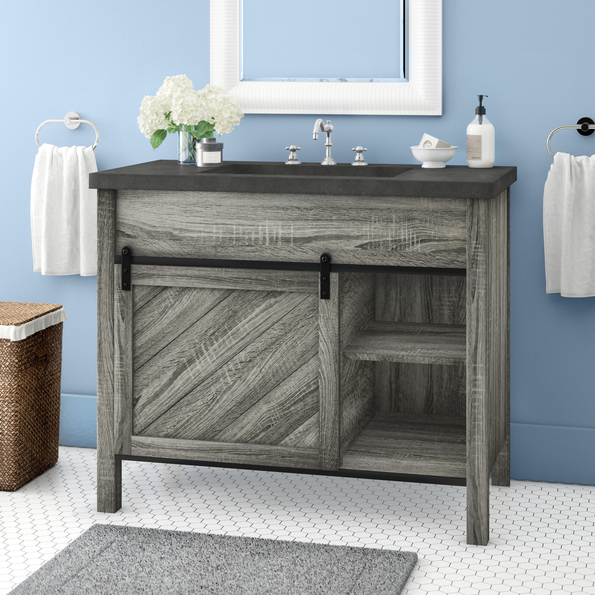 Millwood Pines Philomena 42 Single Bathroom Vanity Set Reviews Wayfair
