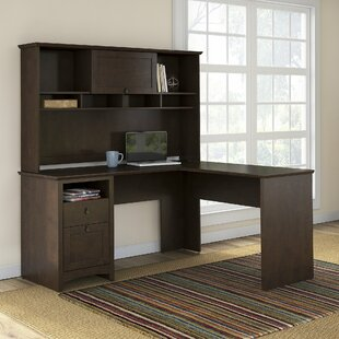 Darby Home Co Fralick Executive Desk with Hutch