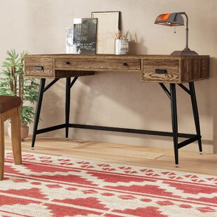 Burlingame 3 Drawer Writing Desk by Union Rustic