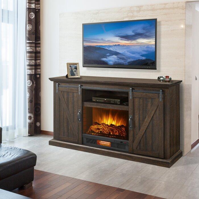 Meuble Tele Avec Foyer Electrique Pour Televiseur De 58 Po Ou Moins Woodbury