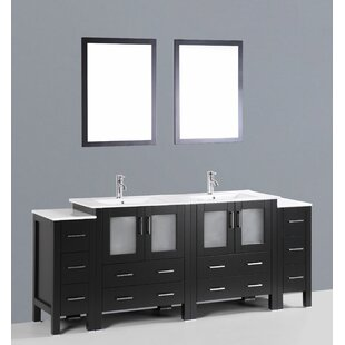 Netto 84 Double Sink Bathroom Vanity Set with Mirror by Ebern Designs