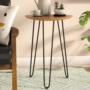 Margene Hairpin Leg Wood End Table