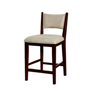 Goza Mid-Century Modern 17.5 Bar Stool (Set of 2) Wrought Studio