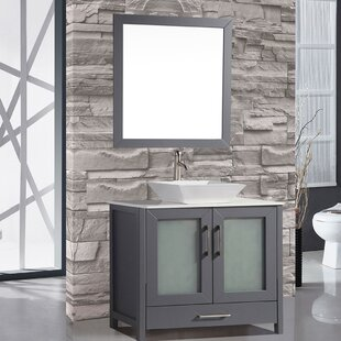 Powley 48 Single Sink Bathroom Vanity Set with Mirror by Orren Ellis