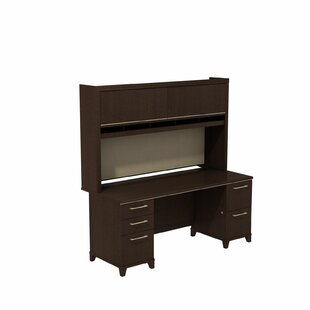 Bush Business Furniture Enterprise Double Pedestal 2 Piece Desk Office Suite