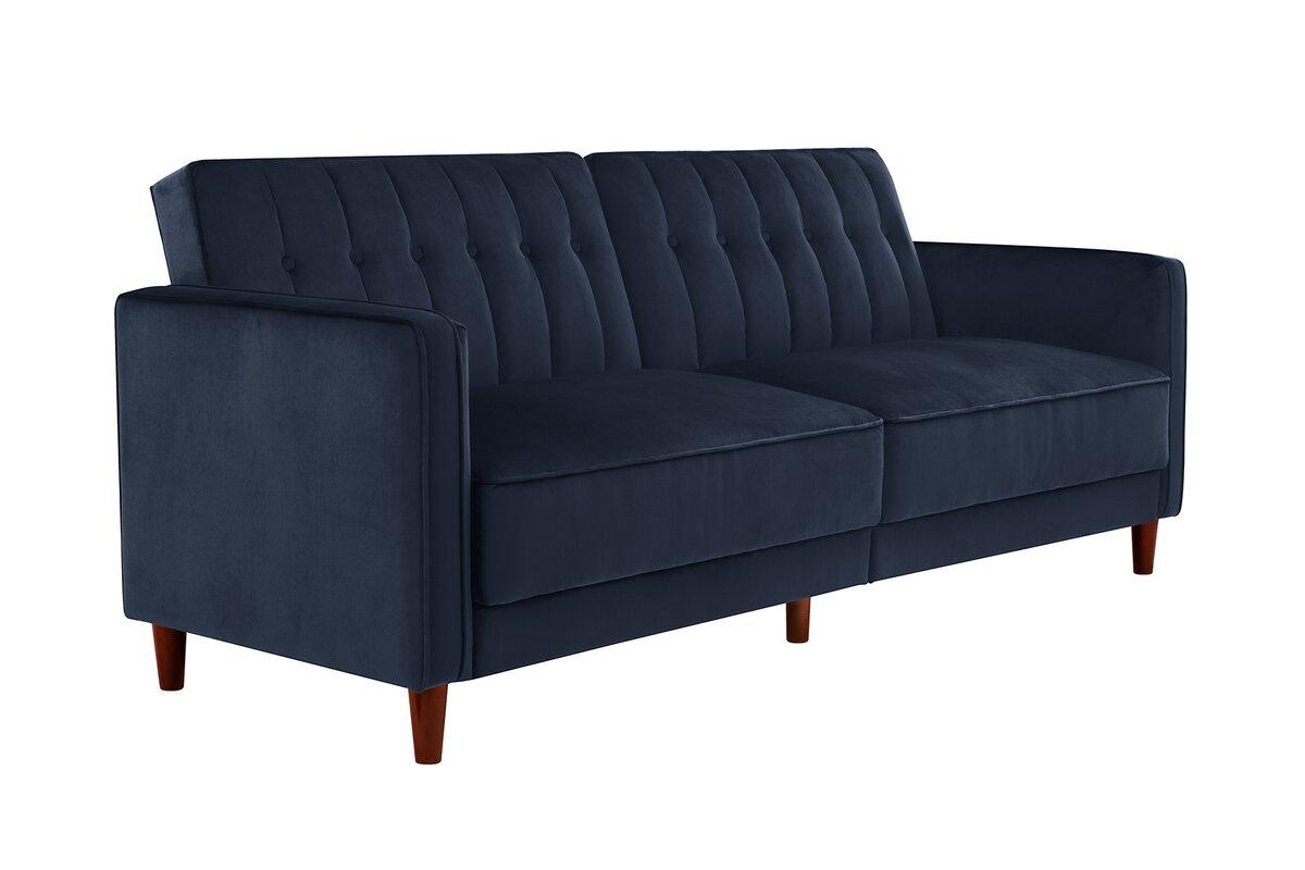 Willa Arlo Interiors Hammondale Pin Tufted Convertible Sofa - Convertible sofas