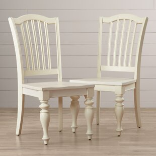 Lark Manor Quevillon Solid Wood Dining Chair (Set of 2)