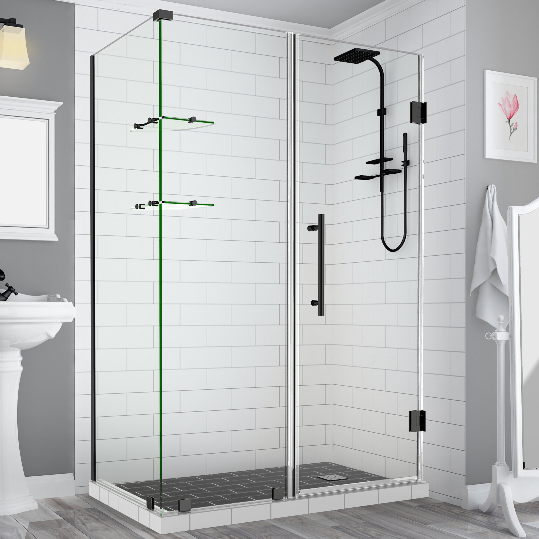 Aston Bromley Gs 32 X 72 Rectangle Hinged Shower Enclosure Wayfair