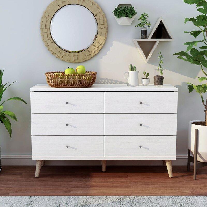Gold Flamingo Teen Layla 6 Drawer Double Dresser Reviews Wayfair