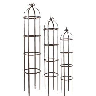 A&B Home 3 Piece Orin Metal Gothic Trellis Set
