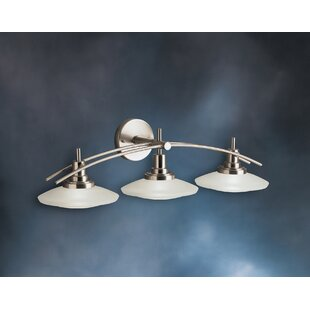 Latitude Run Masontown Halogen 3-Light Vanity Light