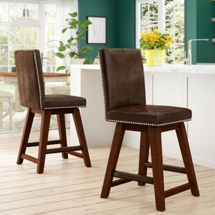 Chromite 26.75 Swivel Bar Stool Loon Peak