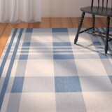 Frazier Beige/Blue Indoor/Outdoor Area Rug