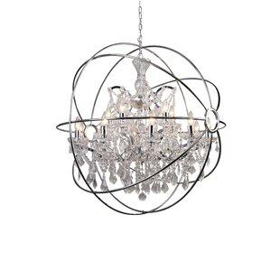 Gracie Oaks Belden 15-Light Globe Chandelier
