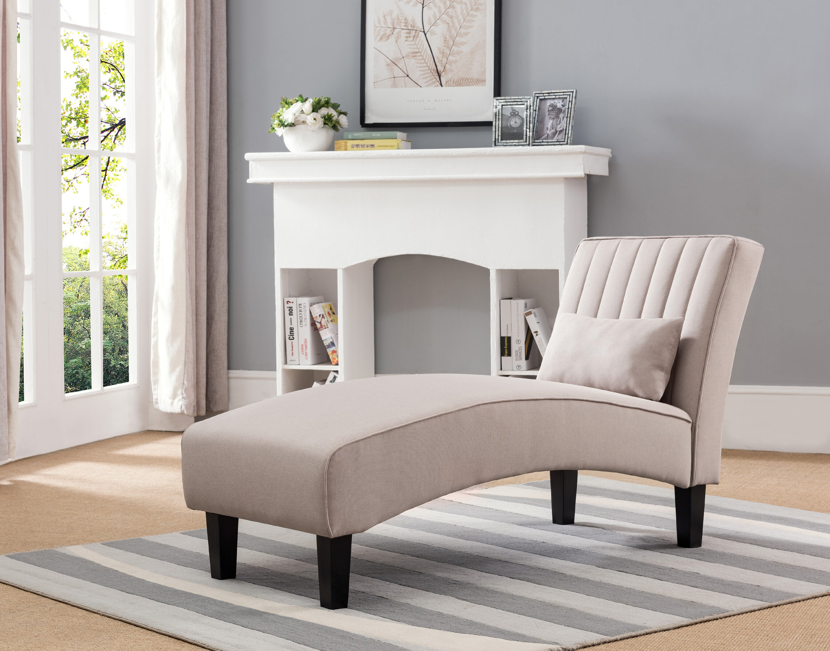 Lexicon Lambart Chaise Lounge Brown