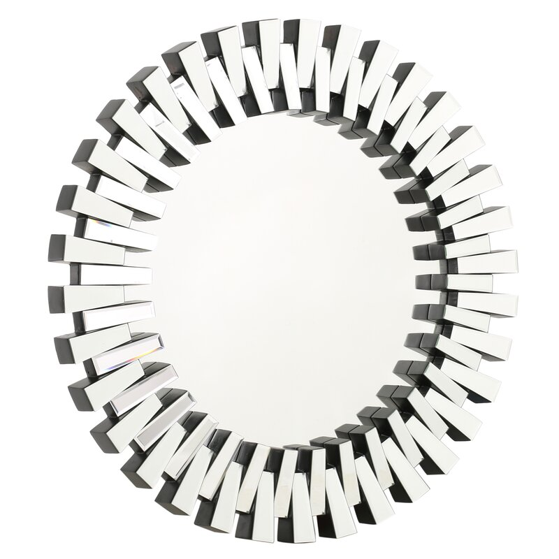 Brand new Willa Arlo Interiors Deniece Sunburst Round Wall Mirror & Reviews  WH51