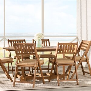 Burlin 7 Piece Dining Set with Cushions