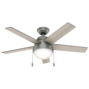 Ceiling fan with bright light wayfair 46 anslee 5 blade ceiling fan mozeypictures Gallery