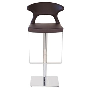 Thies Adjustable Height Swivel Bar Stool by Orren Ellis