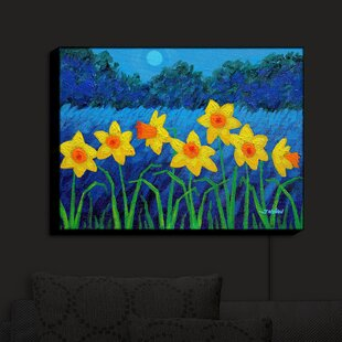 Red Barrel Studio Moonlit Daffodils' Print on Fabric