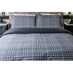 Millwood Pines Vinci English Plaid Reversible Duvet Set