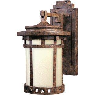 Casimir 1-Light Outdoor Wall Lantern by Loon Peak