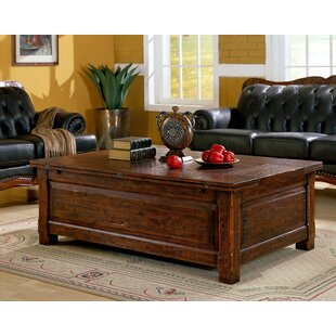 Burgundy Coffee Table with Storage by Eastern Legends