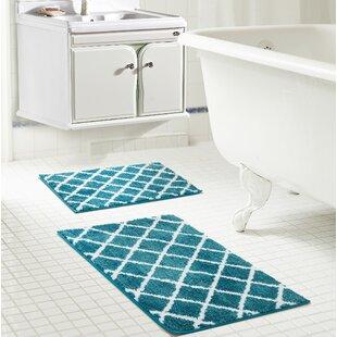Teal Bathroom Rug Set | Wayfair