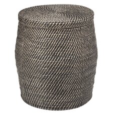Rattan Storage Stool with Cotton Liner by Kouboo