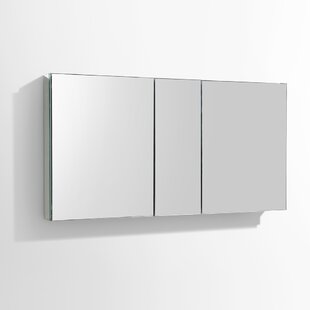 50 x 26 Recessed or Surface Mount Frameless Medicine Cabinet with 4 Adjustable Shelves By Fresca