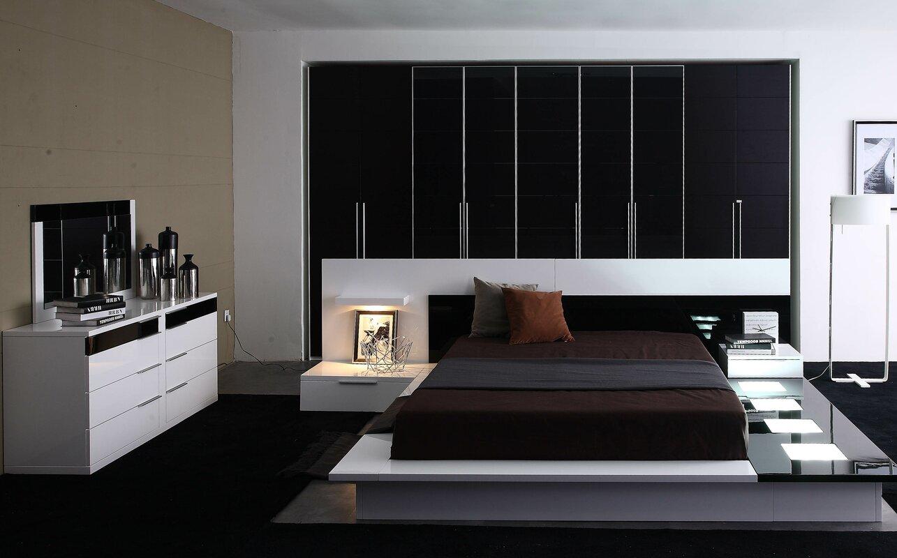 wade logan sabra platform bedroom set  reviews  wayfair - defaultname