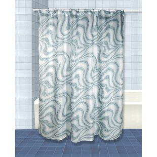 Tidal Single Shower Curtain