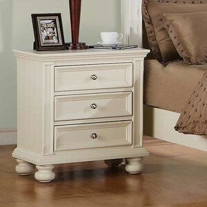 Miami Springs 3 Drawer Nightstand
