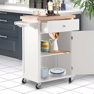 Khoury Kitchen Cart Red Barrel Studio