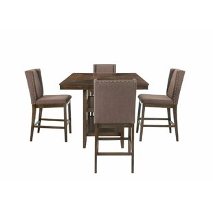 Wallach 5 Piece Pub Table Set Gracie Oaks