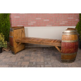 Wine Barrel Wood Garden Bench