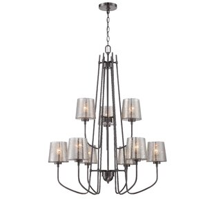 Mercer41 Cragmont 9-Light Candle-Style chandelier
