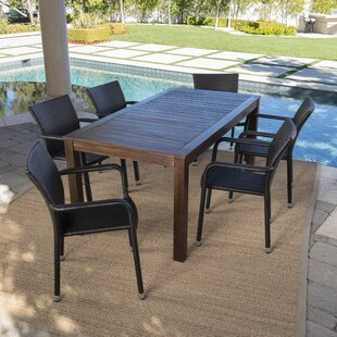 Appleby Outdoor 7 Piece Dining Set by Bra..