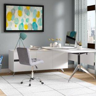 Berna Non-Scratch L-Shape Executive Desk by Symple Stuff
