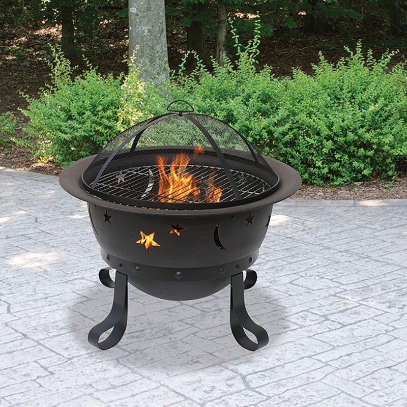 Endless Summer Outdoor Iron Wood Burning Fire Pit Wayfair