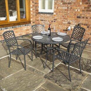 Claretta Cast Aluminium 4 Seat Set By Sol 72 Outdoor