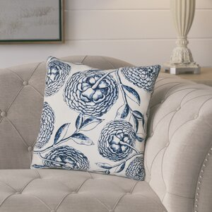 Jud Blooms Antique Flower Throw Pillow