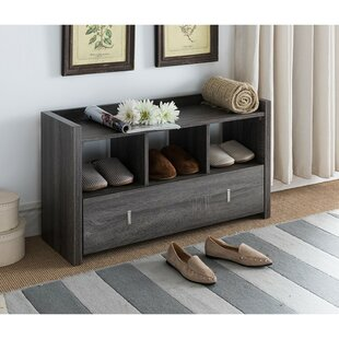 Ebern Designs McManus Shoe Wooden Storage Bench