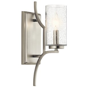 Top Vannoy 1-Light Candle Wall Light By Red Barrel Studio