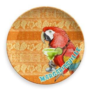 Margaritaville Parrot Batik Round Melamine Platter
