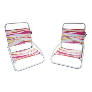 Folding Beach Chair (Set of 2)