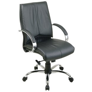 Office Star Products Deluxe Mid-Back Leather Desk Chair