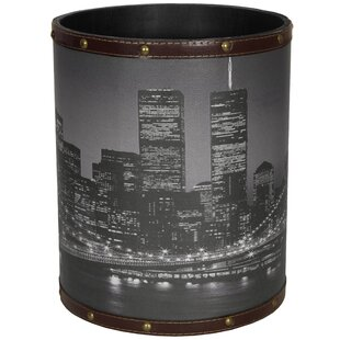 Oriental Furniture Brooklyn Bridge 2.9 Gallon Waste Basket