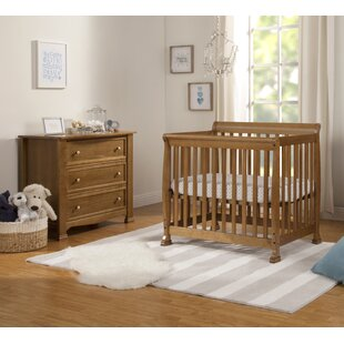 Best Kalani 2-in-1 Convertible Mini 2 Piece Crib Set By Harriet Bee