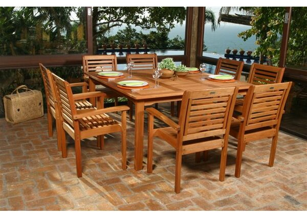 Beachcrest Home Elsmere 9 Piece Dining Set U0026 Reviews | Wayfair